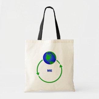 World Revolves Around Me Bag Tote Humor