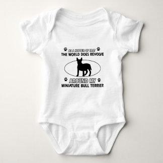 World revolves around my miniature bull terrier baby bodysuit