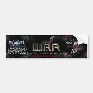 World Rock Radio Bumper Sticker