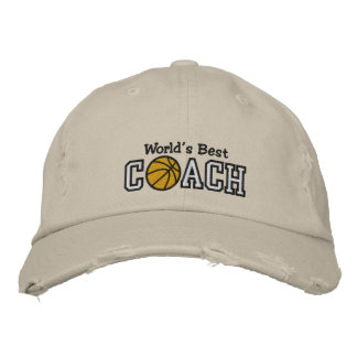 World s Best Basketball Coach Embroidered Hats