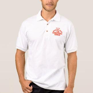 World's best basketball coach polo shirt