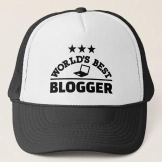 World's best blogger trucker hat