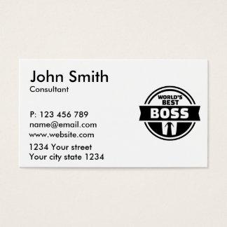 World's best boss business card