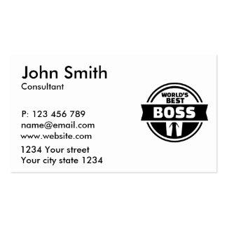 World's best boss pack of standard business cards
