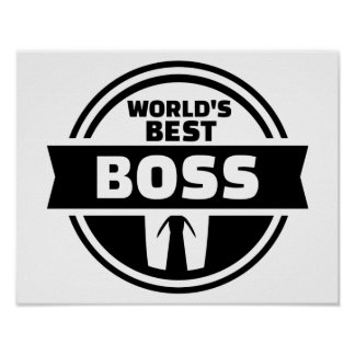World's best boss poster