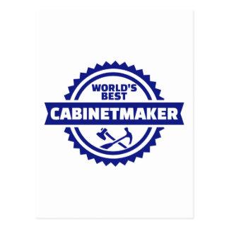 World's best cabinetmaker postcard