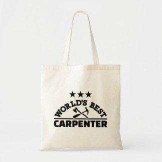 World's best carpenter tote bag