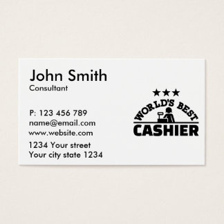 World's best cashier business card