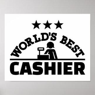 World's best cashier poster
