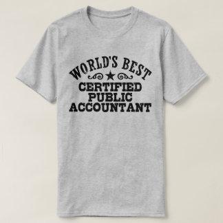 World's Best Certified Public Accountant T-Shirt