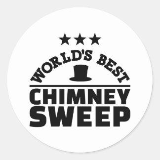 World's best chimney sweep classic round sticker