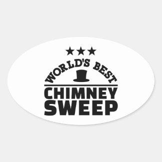 World's best chimney sweep oval sticker
