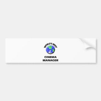 World s Best Cinema Manager Bumper Sticker