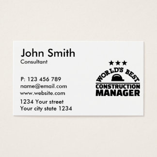 World's best construction manager business card