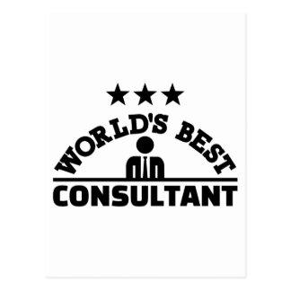 World's best consultant postcard