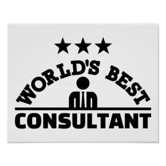 World's best consultant poster