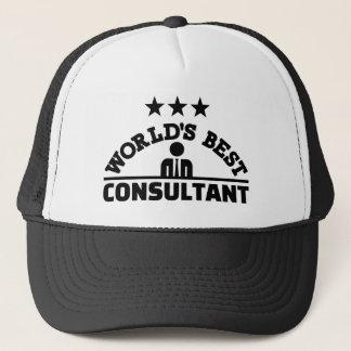 World's best consultant trucker hat