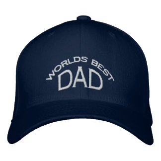 World s Best Dad Hat light letters Embroidered Baseball Cap