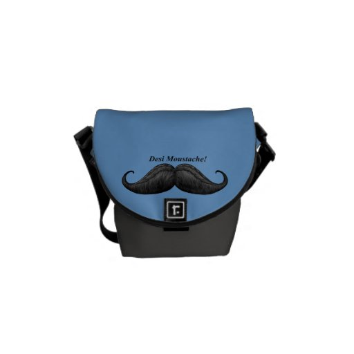 World's Best Desi Moustache, Waxed & Braided Bags Messenger Bag