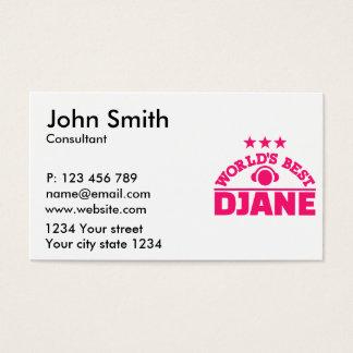 World's best Djane Business Card