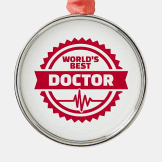 World's best doctor metal ornament