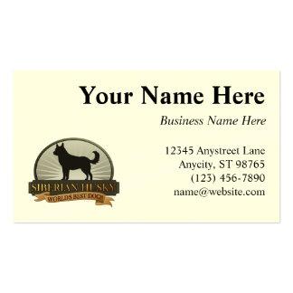 World s Best Dog Siberian Husky Business Card