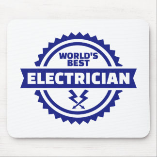 World's best electrician mouse pad