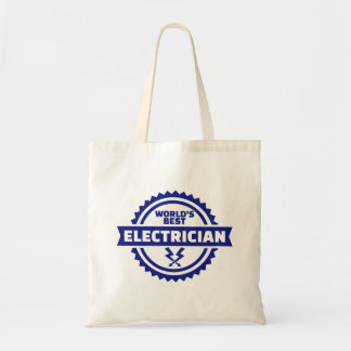 World's best electrician tote bag