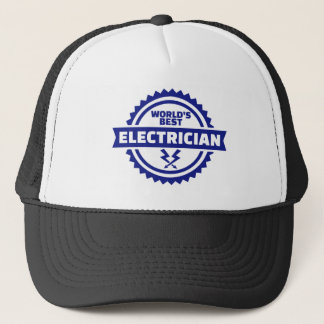 World's best electrician trucker hat