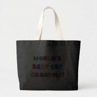 World s Best-est Grandma Bright T-shirts and Gifts Bag