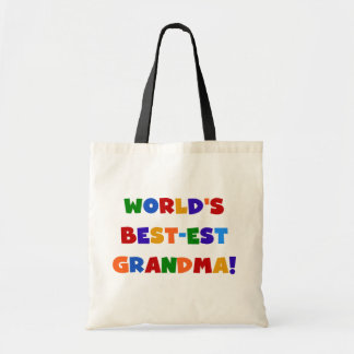 World s Best-est Grandma Bright T-shirts and Gifts Tote Bags
