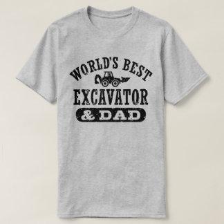 World's Best Excavator and Dad T-Shirt