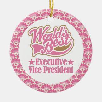 World's Best Executive Vice President Gift Ornamen Round Ceramic Decoration