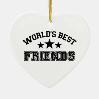 World's best friends ceramic heart decoration