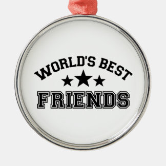 World's best friends Silver-Colored round decoration