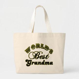 World s Best Grandma Gifts and Grandma Apparel Tote Bags