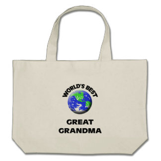 World s Best Great Grandma Tote Bags