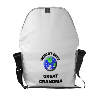 World s Best Great Grandma Messenger Bag