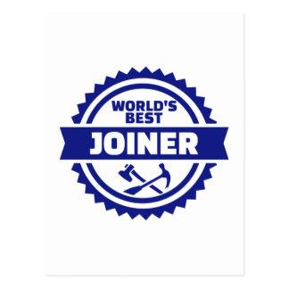 World's best joiner postcard