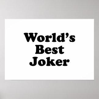 World s Best Joker Print