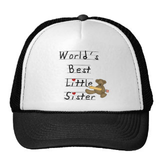World s Best Little Sister Tshirts and Gifts Trucker Hats