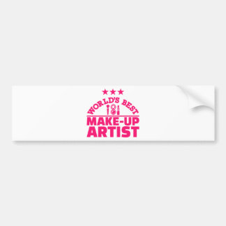 World's best make-up artist bumper sticker