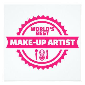 World's best make-up artist card