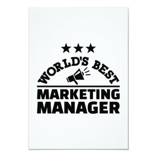 World's best marketing manager 9 cm x 13 cm invitation card