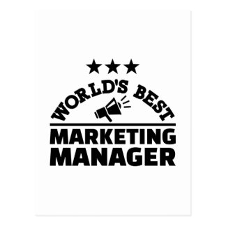 World's best marketing manager postcard