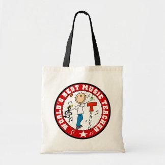 World s Best Music Teacher Tote Bags