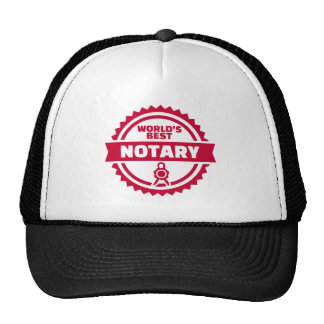 World's best notary cap