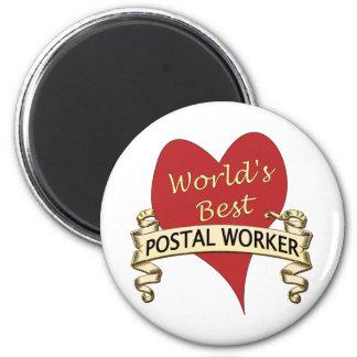 World s Best Postal Worker Refrigerator Magnet