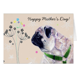 World s Best Pug Mommy Mother s Day Card