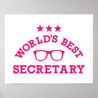 World's best secretary poster